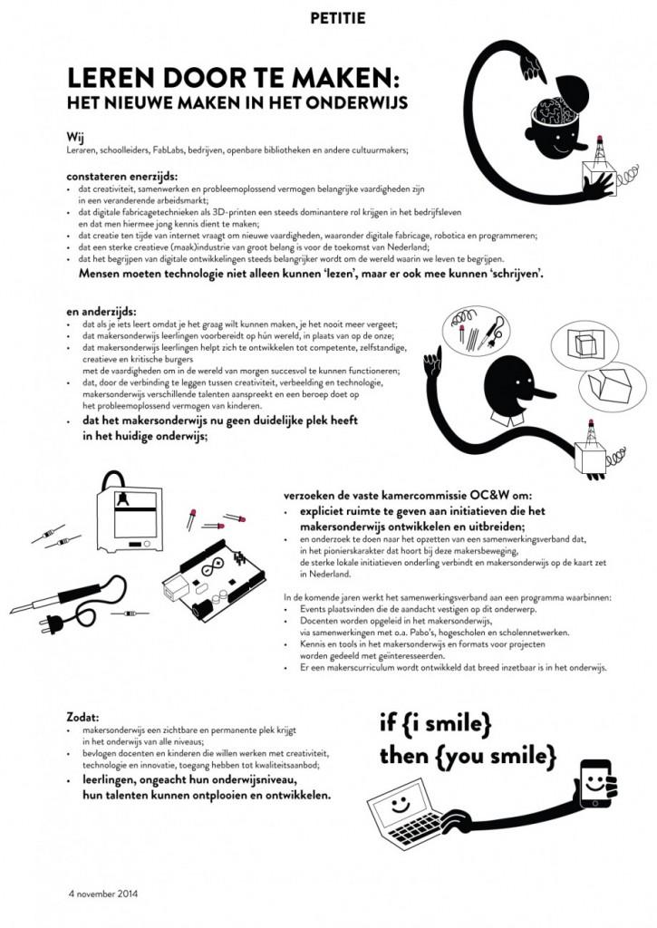 petitie makeronderwijs